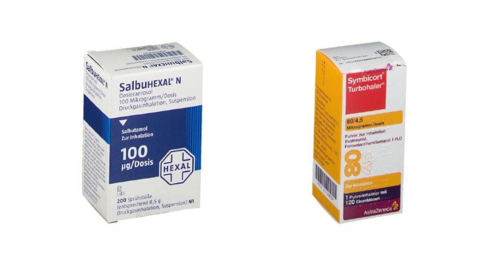 Salbutamol oder Symbicort